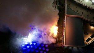 Konya'da otel bahçesinde düğün sırasında konfetilerden çıkan yangın panik yarattı