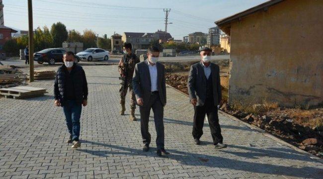 Bitlis'in Güroymak Belediyesi Fen İşleri Müdürlüğü ekipleri Şenova, Şir...