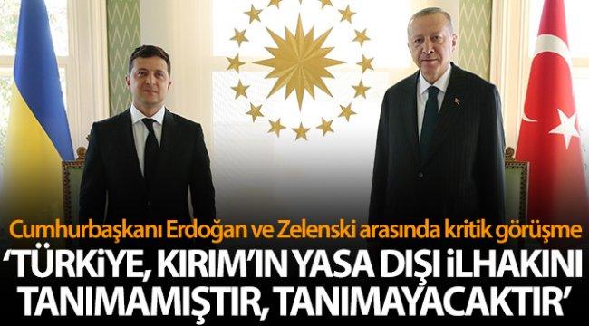 Cumhurbaşkanı Erdoğan, Ukrayna Devlet Başkanı Zelenskiy ile ortak basın açıklaması düzenledi