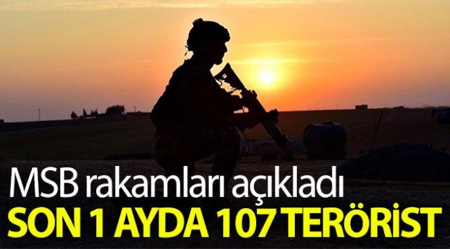 MSB: 'Son 1 ayda 107 terörist etkisiz hale getirilmiştir'