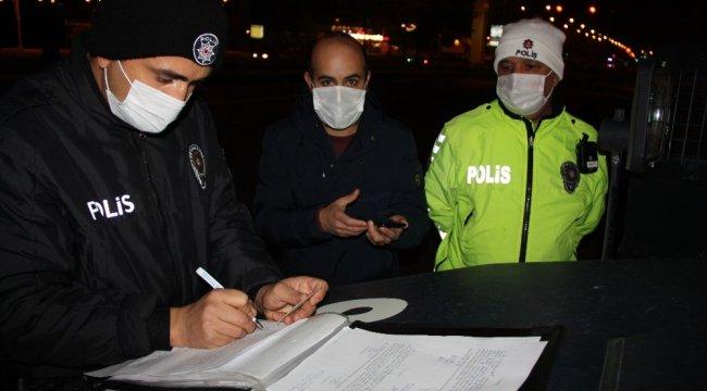 İçişleri Bakanlığı'nın korona virüs yasakları genelgesi kapsamında Türk...