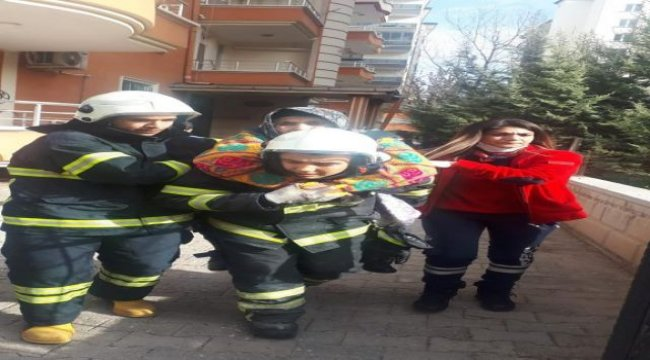 Aksaray'da mutfak tüpünden çıkan yangın korkuttu!