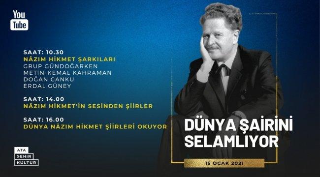 Dünyaca ünlü usta Şair Nâzım Hikmet 119. doğum gününde Ataşehir'de şiir...