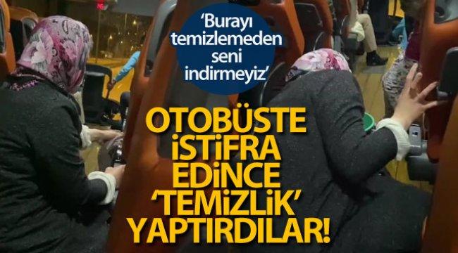 Otobüste engelli yolcu istifra edince 'temizlik' yaptırıldı!