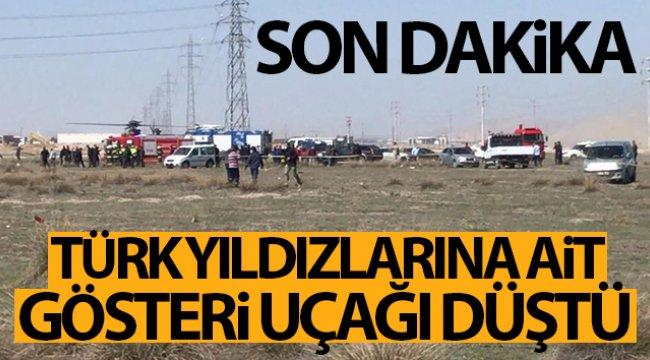 Son dakika! Konya'da askeri gösteri uçağı düştü