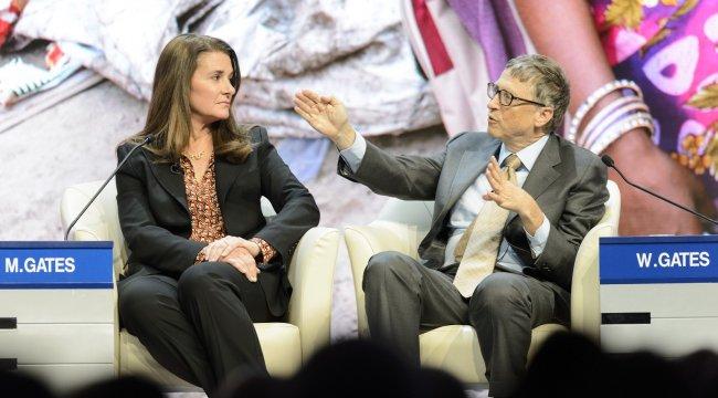 Microsoft'un kurucusu ve eski CEO'su Bill Gates ve eşi Melinda Gate...