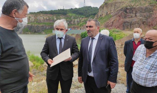 MHP Alaplı İlçe Başkanı Erol Oktay ve beraberindeki heyet, Alaplı-Ereğli ba...