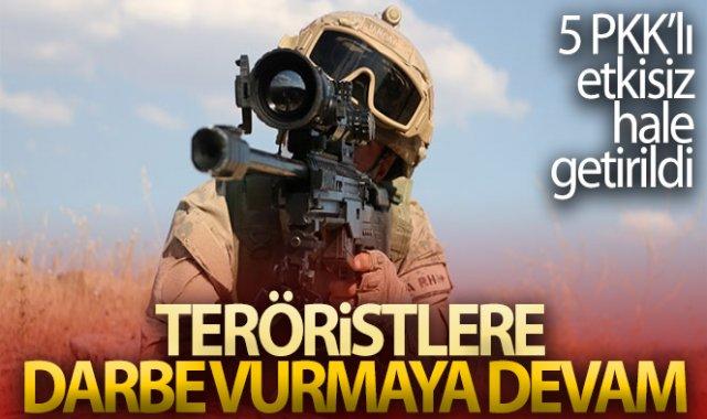 MSB: 'Irak'ın kuzeyinde 5 PKK'lı terörist etkisiz hale getirildi'