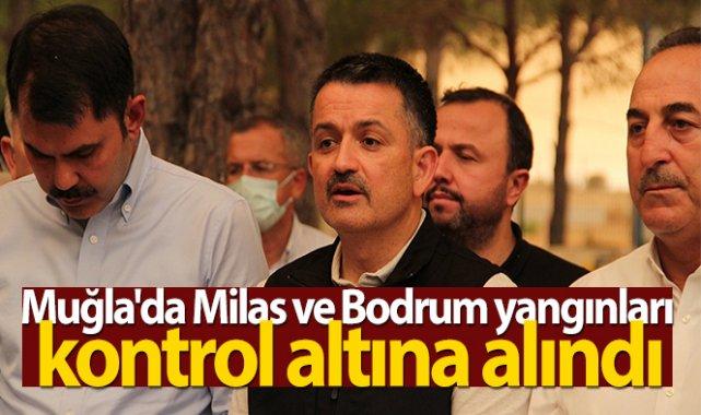 Bakan Pakdemirli: Muğla'da Milas ve Bodrum yangınları kontrol altına alındı