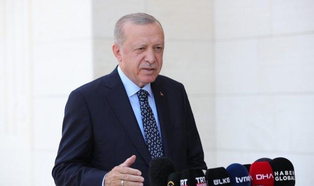 Cumhurbaşkanı Recep Tayyip Erdoğan Büyük Çamlıca Camii'nde Cuma namazın...