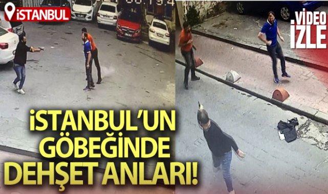 Beyoğlu'nda cinayet anları kamerada: 1 ölü, 1 yaralı
