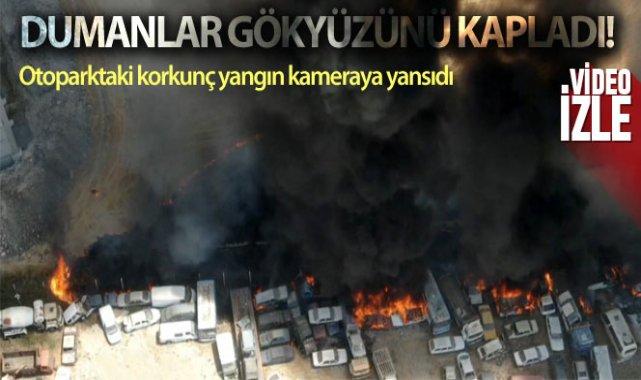 Kahramanmaraş'ta otoparktaki 71 araç yandı