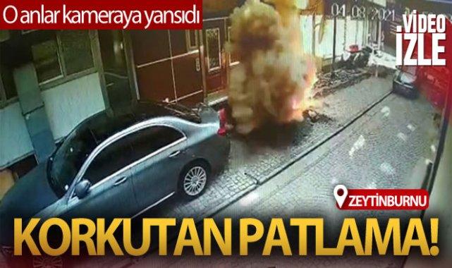 Zeytinburnu'nda kazı çalışması sırasında patlama oldu