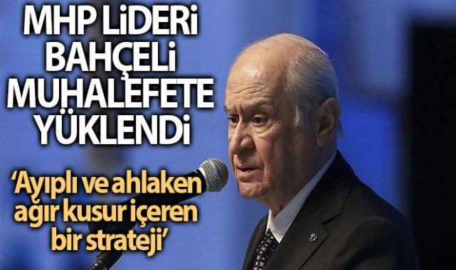 MHP Lideri Bahçeli: 'Zillet ittifakı adayının eşgali ve robot resmi bile çizilmiştir'