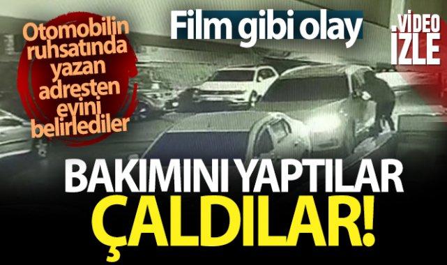 Çekmeköy'de 100 bin TL'lik 'adrese teslim hırsızlık' kamerada