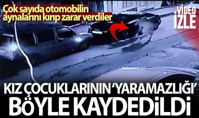 Sultangazi'de park halindeki araçların aynalarını böyle kırdılar